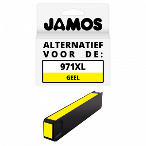 JAMOS Inktcartridge Alternatief voor de HP 971XL Geel