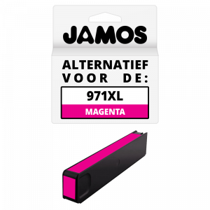 JAMOS Inktcartridge Alternatief voor de HP 971XL Magenta
