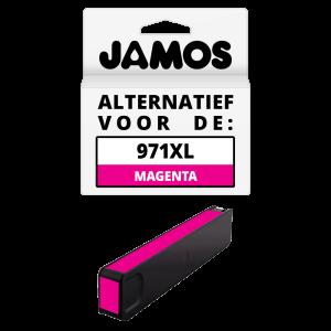JAMOS Inktcartridge Alternatief voor de HP 971XL Magenta