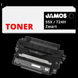 JAMOS Tonercartridge Alternatief voor de HP 55X Zwart CE255X