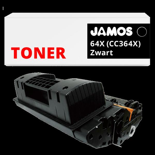 JAMOS Tonercartridge Alternatief voor de HP 64X Zwart CC364X