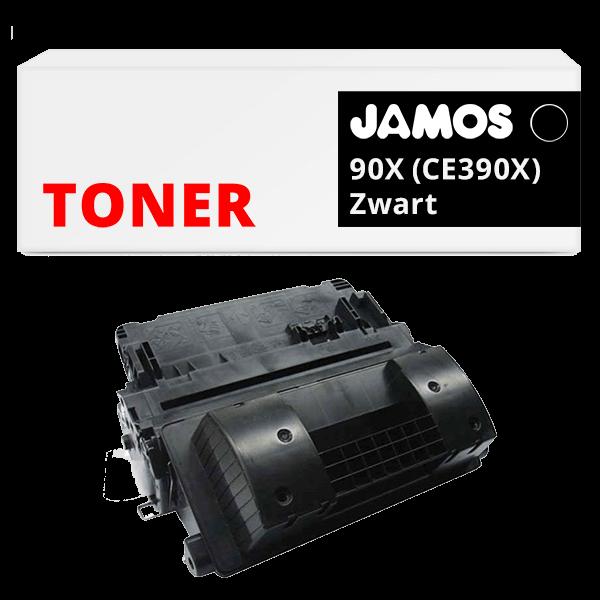 JAMOS Tonercartridge Alternatief voor de HP 90X Zwart CE390X