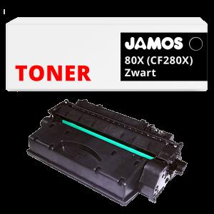 JAMOS Tonercartridge Alternatief voor de HP 80X Zwart CF280X