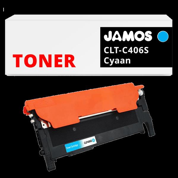 JAMOS Tonercartridge Alternatief voor de Samsung CLT-C406S Cyaan