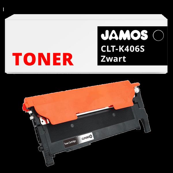JAMOS Tonercartridge Alternatief voor de Samsung CLT-K406S Zwart