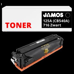 JAMOS Tonercartridge Alternatief voor de HP 125A CB540A Canon 716 Zwart