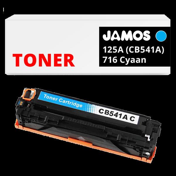 JAMOS Tonercartridge Alternatief voor de HP 125A CB541A Canon 716 Cyaan