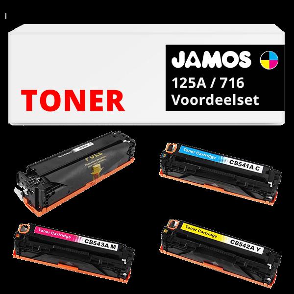JAMOS Tonercartridge Alternatief voor de HP 125A & Canon 716 Voordeelset