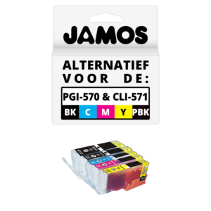 JAMOS Inktcartridges Alternatief voor de Canon-PGI-570PGBK & CLI-571BKCMY XL Voordeelset