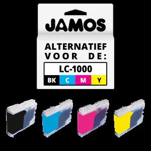 JAMOS Inktcartridge Alternatief voor de Brother LC-970 & LC-1000 Voordeelset