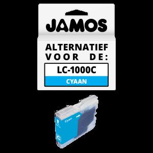 JAMOS Inktcartridge Alternatief voor de Brother LC-1000C Cyaan