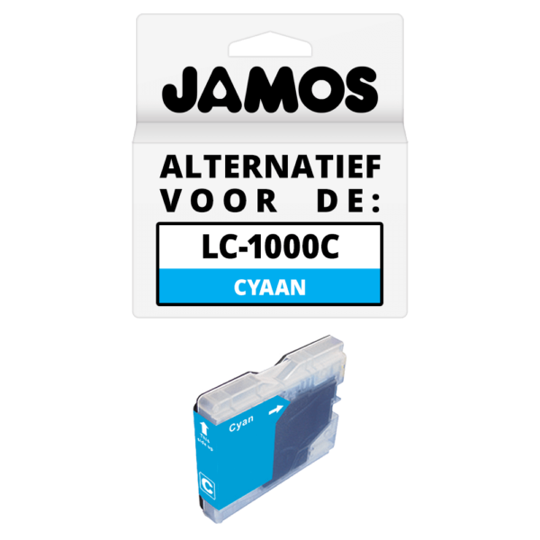 JAMOS Inktcartridge Alternatief voor de Brother LC-1000C Cyaan