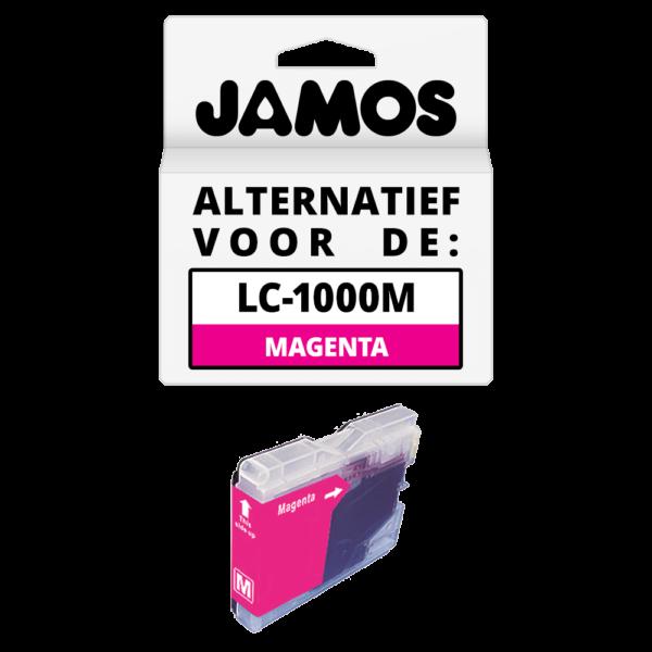 JAMOS Inktcartridge Alternatief voor de Brother LC-970M & LC-1000M Magenta