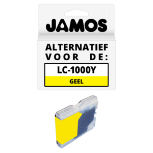 JAMOS Inktcartridge Alternatief voor de Brother LC-970Y & LC-1000Y Geel
