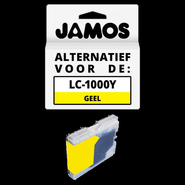 JAMOS Inktcartridge Alternatief voor de Brother LC-970Y & LC-1000Y Geel