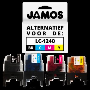 JAMOS Inktcartridge Alternatief voor de Brother LC-1240 Voordeelset