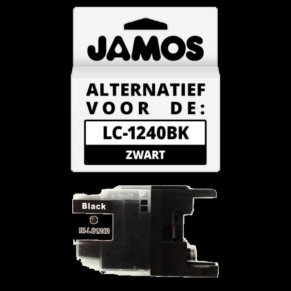 JAMOS Inktcartridge Alternatief voor de Brother LC-1240BK Zwart