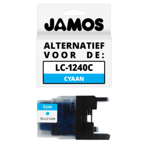 JAMOS Inktcartridge Alternatief voor de Brother LC-1240C Cyaan