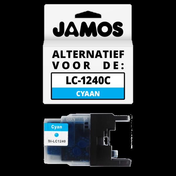 JAMOS Inktcartridge Alternatief voor de Brother LC-1240C Cyaan