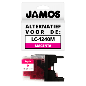 JAMOS Inktcartridge Alternatief voor de Brother LC-1240M Magenta