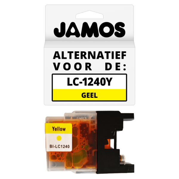 JAMOS Inktcartridge Alternatief voor de Brother LC-1240Y Geel