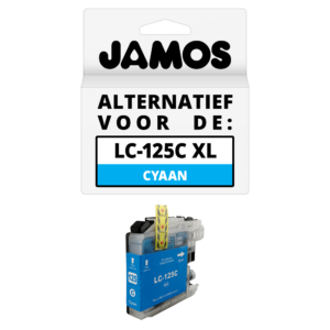 JAMOS Inktcartridge Alternatief voor de Brother LC-125C XL Cyaan