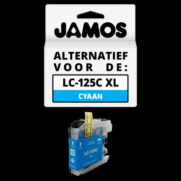 JAMOS Inktcartridge Alternatief voor de Brother LC-125C XL Cyaan