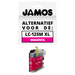 JAMOS Inktcartridge Alternatief voor de Brother LC-125M XL Magenta
