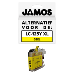JAMOS Inktcartridge Alternatief voor de Brother LC-125Y XL Geel