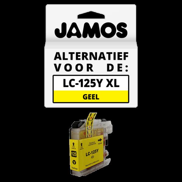 JAMOS Inktcartridge Alternatief voor de Brother LC-125Y XL Geel