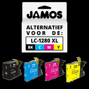 JAMOS Inktcartridge Alternatief voor de Brother LC-1280 XL Voordeelset
