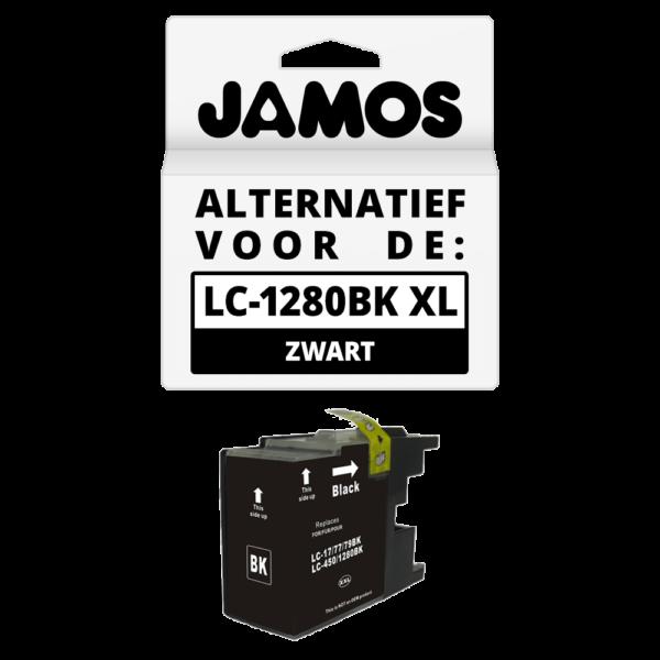 JAMOS Inktcartridge Alternatief voor de Brother LC-1280BK XL Zwart