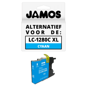 JAMOS Inktcartridge Alternatief voor de Brother LC-1280C XL Cyaan