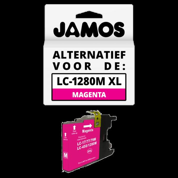 JAMOS Inktcartridge Alternatief voor de Brother LC-1280M XL Magenta