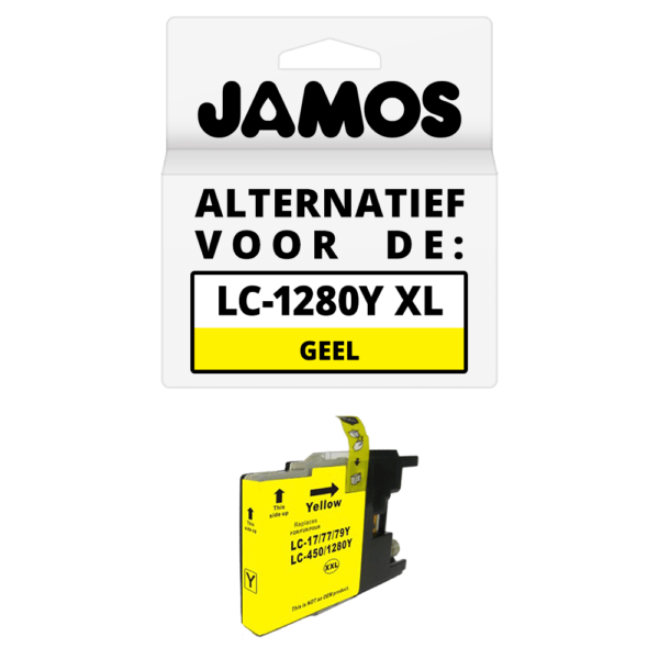 JAMOS Inktcartridge Alternatief voor de Brother LC-1280Y XL Geel