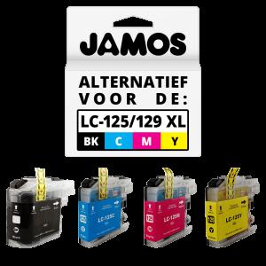 JAMOS Inktcartridges Alternatief voor de Brother LC-125XL & LC-129XL Voordeelset