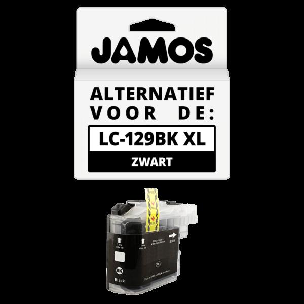JAMOS Inktcartridge Alternatief voor de Brother LC-129BK XL Zwart