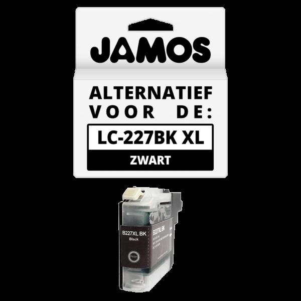 JAMOS Inktcartridge Alternatief voor de Brother LC-227BK XL Zwart