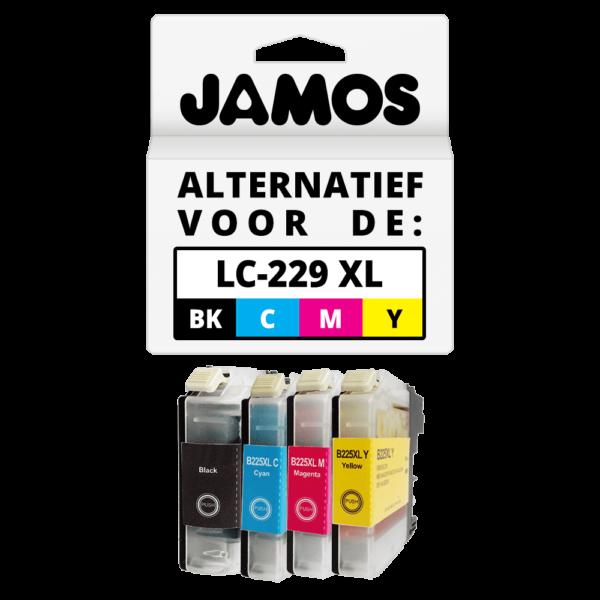 JAMOS Inktcartridge Alternatief voor de Brother LC-225XL & LC-229XL Voordeelset