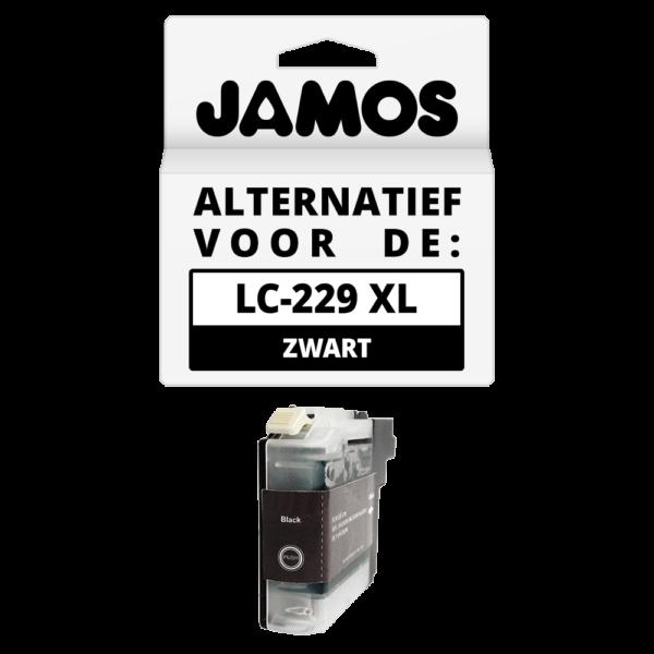 JAMOS Inktcartridge Alternatief voor de Brother LC-229BK XL Zwart