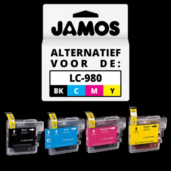 JAMOS Inktcartridge Alternatief voor de Brother LC-980 Voordeelset