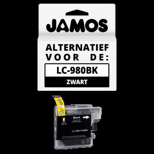 JAMOS Inktcartridge Alternatief voor de Brother LC-980BK Zwart