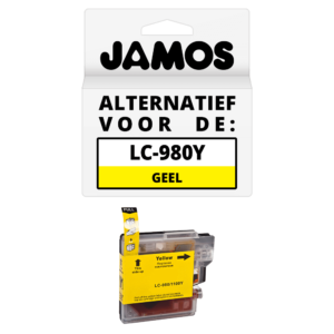 JAMOS Inktcartridge Alternatief voor de Brother LC-980Y Geel