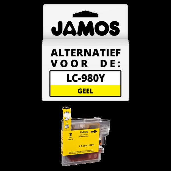 JAMOS Inktcartridge Alternatief voor de Brother LC-980Y Geel