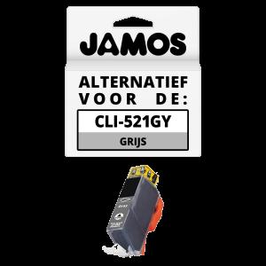 JAMOS Inktcartridge Alternatief voor de Canon CLI-521GY Grijs