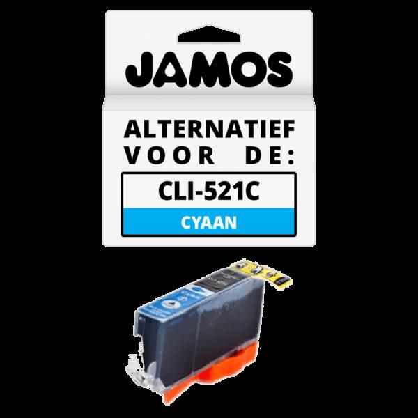 JAMOS Inktcartridge Alternatief voor de Canon CLI-521C Cyaan