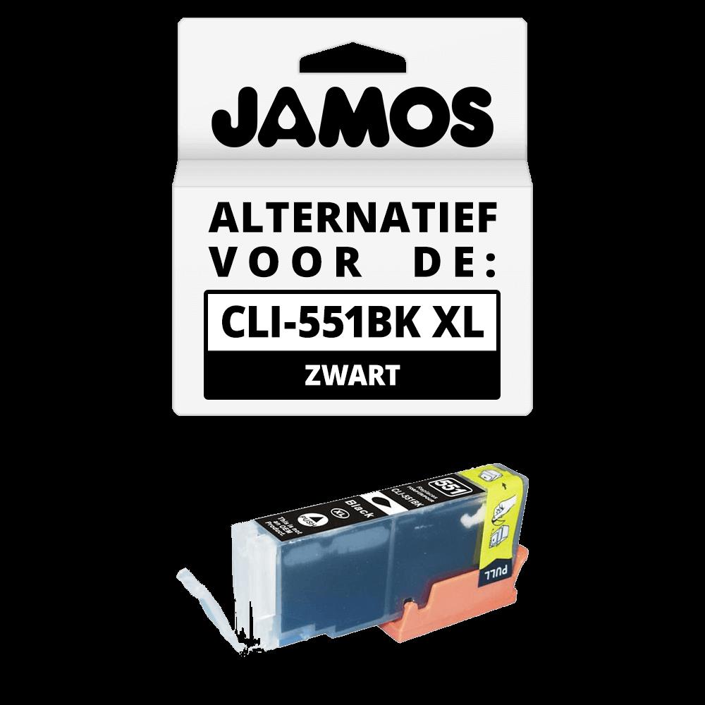 JAMOS Inktcartridge Alternatief voor de Canon CLI-551BK XL Foto Zwart