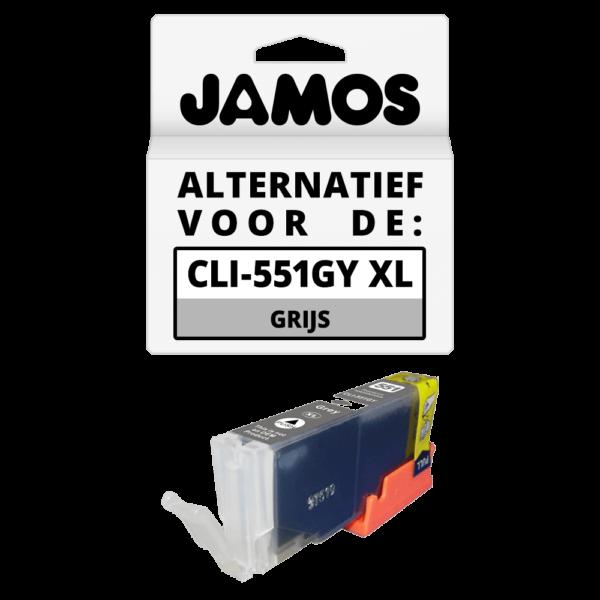 JAMOS Inktcartridge Alternatief voor de Canon CLI-551GY XL Grijs
