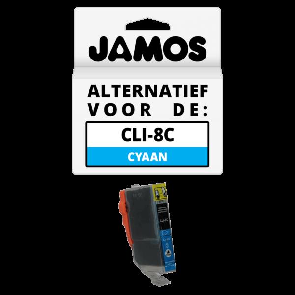 JAMOS Inktcartridge Alternatief voor de Canon CLI-8C Cyaan