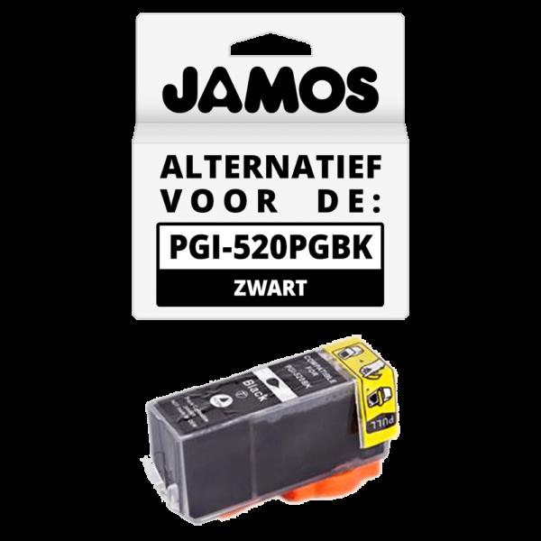 JAMOS Inktcartridge Alternatief voor de Canon PGI-520PGBK Zwart